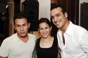 Luis Gerardo Zapata, Areli González y José Alfredo Sánchez.