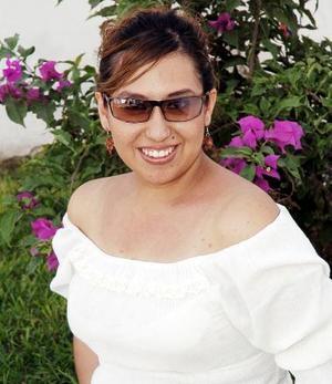 Nuria Ramos Jiménez en su fiesta de despedida.