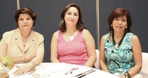 Chepis de Pérez, Irma de Gidi y Carmelita de García.