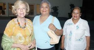 Rosa Gómez, Genoveva García y Olivia García.