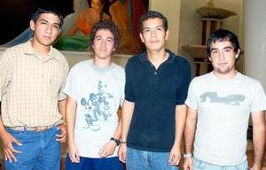 René de la Fuente, Oswaldo Nevares, Francisco Jordán y Gerardo Cervantes.