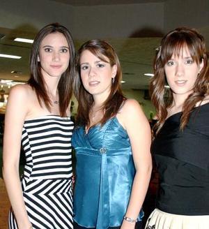 Alejandra Maisterrena, Ana Sofía González y Alñe Larriñaga.