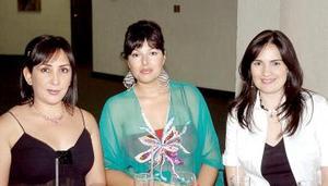 Ana Isabel Lozoya, Susana Russek y Ana Nava.