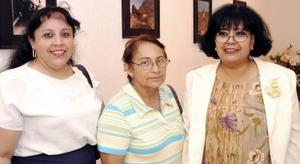 Angelina Sotomayor, Irene Martínez e Irma Ezquivel.