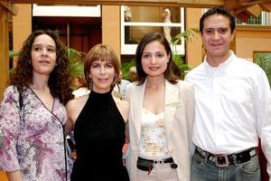 Alejandra Reyes, Paty Ruiz, Liliana Iturriaga y Jesús Reyes.
