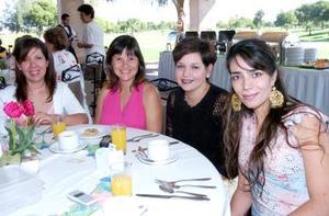 Miriam Talamás, Charmaine de Meza, María Lucía de Murra y Marcela de Gurrola