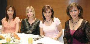 Lourdes de Cepeda, Marissa Marrera, Linda Rodríguez y Rosy Torres.