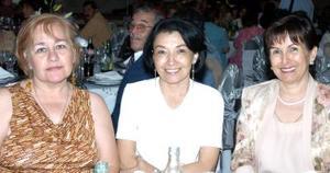 Lillian de Corral, Adriana de Sierra y Elsa de Rentería.