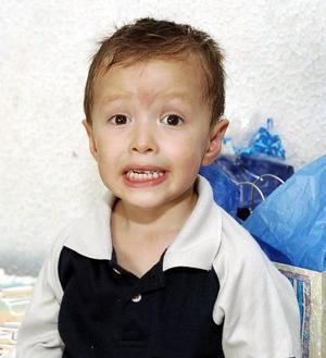 El pequeño Arturo Castaño Violante, captado el día que cumplió tres años de vida.