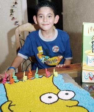 Víctor Fernández Piedra, en si fiesta de cumpleaños.