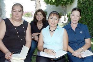 Carolina de Alba, Enedilia de Martínez, Ana María de Avelar y Mary Cruz Treviño.