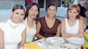 Rocío Valle, Lily Guerrero, Margarita Quintero y Susy de Rayos.