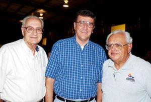 Francisco Goytia, S.J., José María Beltrán del Río y Ricardo Haces Gil.
