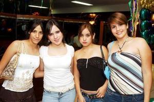 Maleny Ramos, María Valdez, Daniela Sáenz y Mariana Murguía.
