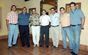 <b>27 de septiembre 2005</b><p> Ricardo Jiménez, Gerardo Tueme, Fernando Casas, Miguel Ramos, Marco Antonio Ramos, Omar Giacomán y Severino González.