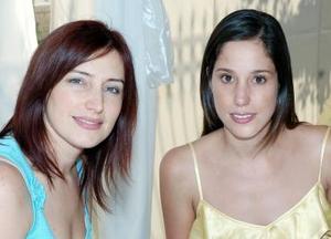 <b>27 de septiembre 2005</b><p> Valeria Russek y Adriana Díaz de León.