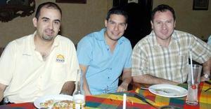 Julián Ramos, Salim Fahur y Bruno Solís.