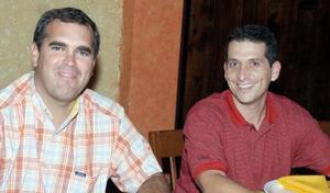 <b>27 de septiembre 2005</b><p> Ricardo Jiménez y Guillermo Milán.