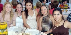 Mónica de Garza Tijerina, Bárbara Berlanga, Adriana Alarcón, María Dabdoub y Ale Soltero.