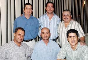 David Murra, Ricardo Gamboa, Marcelo Obeso, Eduardo Martínez, Alberto González y Jorge Sánchez.