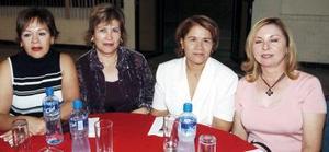 Martha Bustos, Chelito de Alba, Lety Palacios y Blanca Bustos.