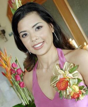 Karla Ríos Serna, captada en su despedida de soltera, con motivo de su próxima boda.