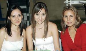 Lorena Madrazo, Leticia Castro y Adriana Camarillo.