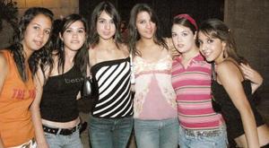 Gaby García Margarita López, Ileana Soto, Marucarmen Milán, Marcela Villarreal y Mariam Gidi.