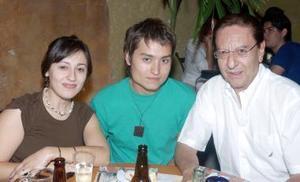 Ana Villar, Jorge Lugo y Guillermo Zertuche.