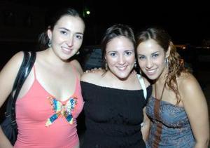 Daniela Graham, Marisol Olivares y Viridiana González.
