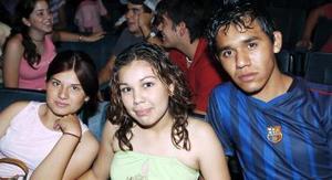 Jesús Adrián  Sáenz, Mirna Moreno y Selene Alicia Mujica.