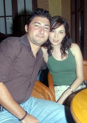 Enrique del Villar y Sonia López.
