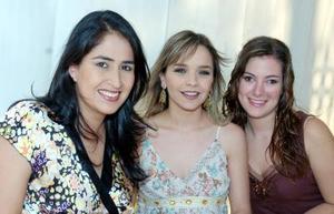 Bárbara Nahle, Ale de Mijares y Paola  de Veyán.