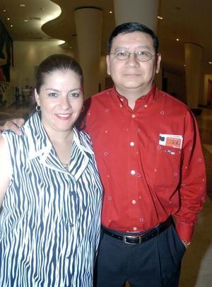 Dora Alicia de Rivera y Juan Manuel Rivera.