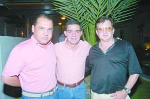 Ramón Franco, Nessim Issa y Ricardo Zarzar.