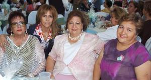 Bety de Aguirre, Ary Coto de Ayoub, Sayne de Chibli y Elisa de la O.