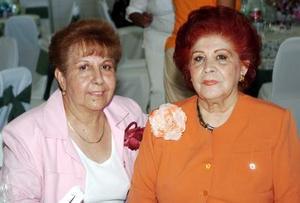 Luchita de Espino y Martha de la Rosa