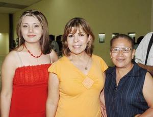 Marisol García, Senorina Pacheco y María Olivia López.