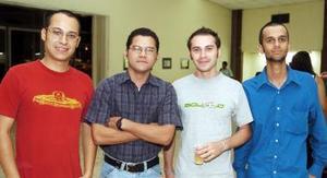 Gerardo Esquivel, Julio Enríquez, Xavier Salmón y Otto Craviotto.