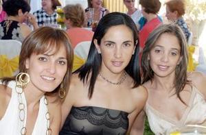Ana Cris Aranda, Bárbara Garza y Rocío Cabranes.