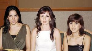 Esther Garza, Daniela Ortiz y Mónica de Rivera.