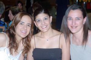 Ale Villalobos, Samar Mansur e Hilda Calderón.