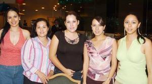 Carolina de la Garza, Nydia Rocha, María Luisa Ortiz, María Teresa de Santiago y Ana Laura Rodríguez.