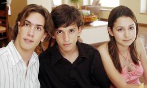 Miguel Muñoz, Gustavo y Paulina Beltrán.