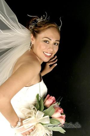 Srita. Sandra Luz Valdez García, el día de su boda con el Ing. Juan Bautista Núñez Contreras.