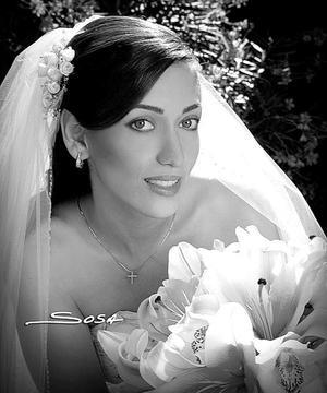 Srita. Velina Murra Kanahuati, el día de su boda con el Sr. José Luis Salinas Reveles
