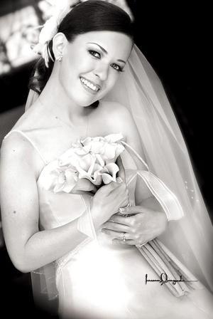Srita. Ana Pamela Palacios Romo, el día de su enlace matrimonial con el Sr. Rogelio García Vázquez.
