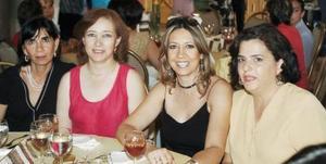 <b>05 de octubre de 2005</b><p> Samia Jacamán Zarzar, Leticia de Oviedo, Rosalba Ruiz González y Patricia Gutiérrez.