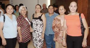 Silvia Sánchez, Laura de Espino, Rosario de Ortiz, Yolanda Cantú, Verónica y Yolanda Sánchez.