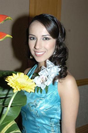 Carolina de la Garza Betancourt, captada en su despedida de soltera.